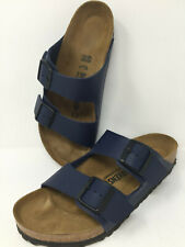 Birkenstock Navy Blue Leather Sandals EU40 Unisex L9 M7