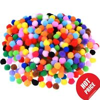 10mm Pompoms 500 Pcs Mixed Colours Mini Soft Pom Poms Arts And Crafts Free Post
