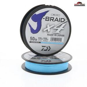 (2) Daiwa x4 Braid Line 50lb Test 150yds Blue ~ NEW