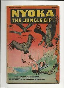 NYOKA THE JUNGLE GIRL #16 1948 FAWCETT GOLDEN AGE JUNGLE COMIC VG