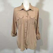 2f8043c1e222a1 Elementz Women Size Medium Long Sleeve Button Front Blouse Shirt Top - C129