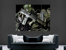 Airsoft machine gun art grand poster géant imprimer grand