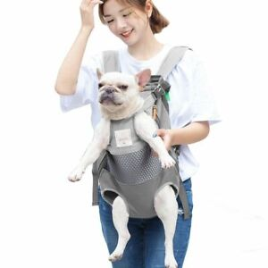 Pet Backpack Carrier Dogs Front Travel Puppy Bag Mesh Animals Adjustable Cat