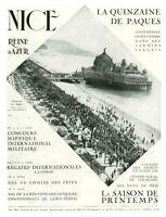Publicité ancienne Nice la quinzaine de Pâques 1930 issue de magazine