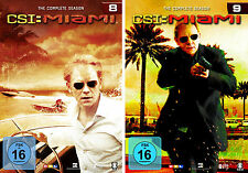 12 DVDs * CSI : MIAMI - KOMPLETTE STAFFEL / SEASON 8 + 9 IM SET # NEU OVP §