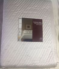 HUDSON PARK PRIST QUILTED COVERLET QUEEN + ONE STD SHAM IVORY $440.00