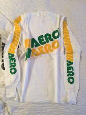 Nos AERO Race Shirt Top BNIP Original vieja escuela de BMX 1980s Verde Amarillo