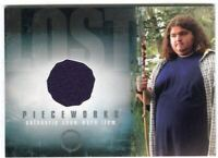 "Lost Season 1 One PW-8 Jorge Garcia Hugo ""Hurley"" Reyes Pieceworks Costume Card"