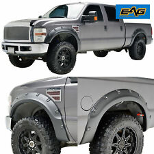 EAG Fits 08-10 Ford Super Duty F250/F350 Textured Black Pocket Fender Flares