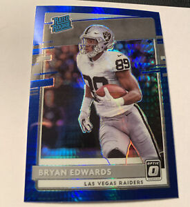 2020 Donruss Optic BRYAN EDWARDS Rated Rookie Blue Prizm RAIDERS RC