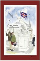 Westminster Bridge Linen Union Tea Towel by Samuel Lamont