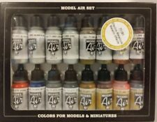 Vallejo acrylic Model air paint set 71.181, Metallic Effects