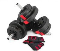 Hop-Sport Composite Dumbbells 2x 20kg PRO with Gloves For Free Condition is NeW