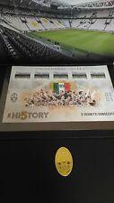 """2016 Folder francobolli """"JUVENTUS CAMPIONE D'ITALIA """" tiratura limitata. Offerta"""