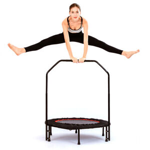 Trampoline Indoor Fitness Jumping Cardio Trainer with Handle Bar Max 330LB