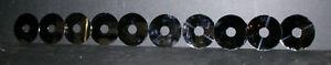 "Lot of 10 3 3/4""  Hard Drive Disc Platters Aluminum Platinum Chimes Arts Crafts"