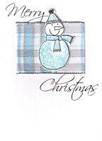 Luxury 3D Merry Christmas Snowman Cards Handmade Special Xmas Greeting Card