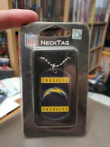 """New NFL Pick your Teams Engravable Neck Tag / Necklace / Dog Tag 26"""" Ball Chain"""