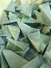 Green Triangle Tumbling media rock polishing vibrating deburring 5 lbs
