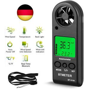 Digitales Mini Anemometer BT-816B Windmesser Temperatur Luftstrom Tester 0-30m/s