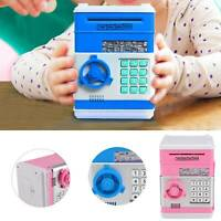 Kids Electronic Money Box Safe Piggy Bank Money Coin Note Mini ATM Cash Machine