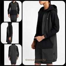 Nikelab Tech Fleece Essential FZ Long Hoodie Parker 848731-032 Sz Small Wmn Nike