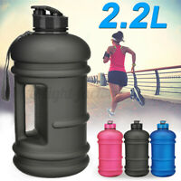 Frosted 2.2L BPA Free Sport Gym Training Drink Water Bottle Workout Camping  !*