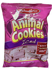 1 Bag Stauffer's Iced Animal Cookies, 11 oz Frosted Zero Cholesterol Zero Fat