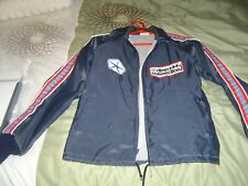 Vintage Mopar Direct Connection Light Nylon Jacket With Red,White&Blue Stripes