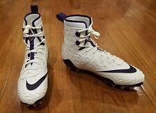 Nike Force Savage Elite Td Men's High Top Football Cleat 11 White & Purple Nwt
