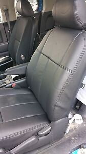 2006-2009 Ram 2500  Quad Cab Grey Clazzio Perforated leather seat covers kit