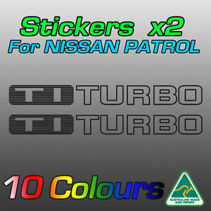 Nissan Patrol TI TURBO stickers decals for GU model   **Premium quality**