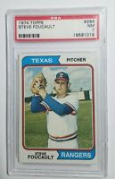 1974 Topps #294 Steve Foucault Rookie Card RC Texas Rangers PSA 7 NM