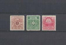 "China 1908 Qing Dynasty ""Cloud & Dragon"" Revenue Stamps, MLH. No Gum."