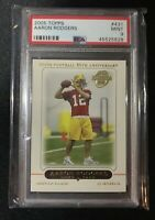 2005 Topps #431 Aaron Rodgers Green Bay Packers RC Rookie PSA 9 MINT
