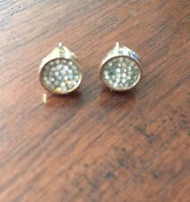 Rebecca Minkoff - Gold Crystal Studded Earrings