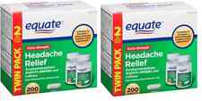 Equate Extra-Strength Headache Relief Caplets, 2 x 200 ct, Aspirin, Caffeine 400