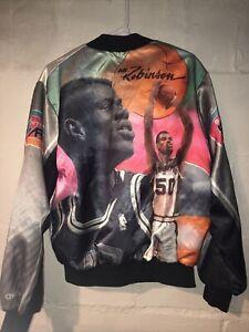VTG NBA David Robinson Fanimation Chalk Line Jacket Size XL Spurs San Antonio
