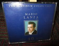 MARIO LANZA: THE PLATINUM COLLECTION - 40 GREAT TRACKS 2-DISC CD SET,COMPILATION