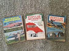 Lot Of 3 1955 Popular Mechanics &  Mechanix Illustrated Magazines