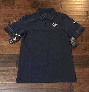 Nike Men's Houston Texans Football Polo Shirt Sz. Small NEW NKCL-41L
