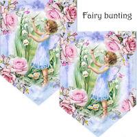 Fairy Bunting/ Birthday bunting/Christening bunting/ room decoration garland fae