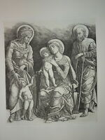 Giovanni Antonio BRESCIA (c.1485-1531) GRAVURE RENAISSANCE SAINTE FAMILLE ITALIE