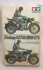 RARE TAMIYA MODEL KIT BMW R75 ZUNDAPP KS750 GERMAN MILITARY MOTORCYCLE TOY JAPAN
