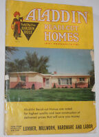 VINTAGE 1959 BUILD YOUR OWN ALADDIN READY CUT HOMES CATALOG! COLOR PICTURES