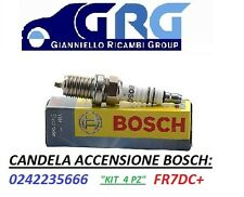 4 Candele di accensione Bosch 0242235666 PER AUTO FIAT FR7DC+