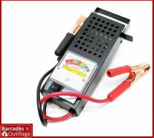 Testeur de batterie et du système de charge - 6 et 12 Volts