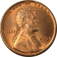 1953 S 1c Lincoln Wheat Cent Penny US Coin BU Uncirculated Mint State