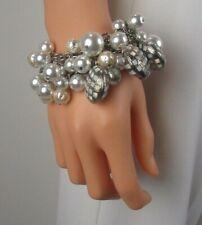NWT ST JOHN KNIT WOMENS BRACELET DESIGNER Flash Gold/White Opal,