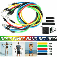 11Pcs Resistance Bands Workout Exercise Yoga Set Crossfit Fitness Training Tubes